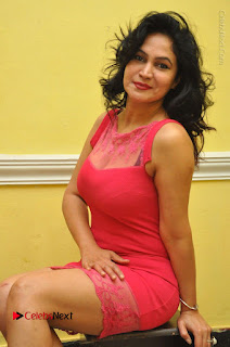 Telugu Actress Vijaya Murthy Stills in Red Short Dress at Www.Meena Bazaar Movie Opening  0075.JPG