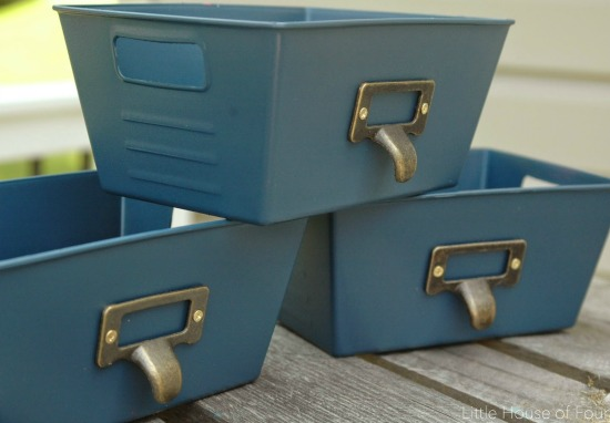 Updated Dollar Store storage bins