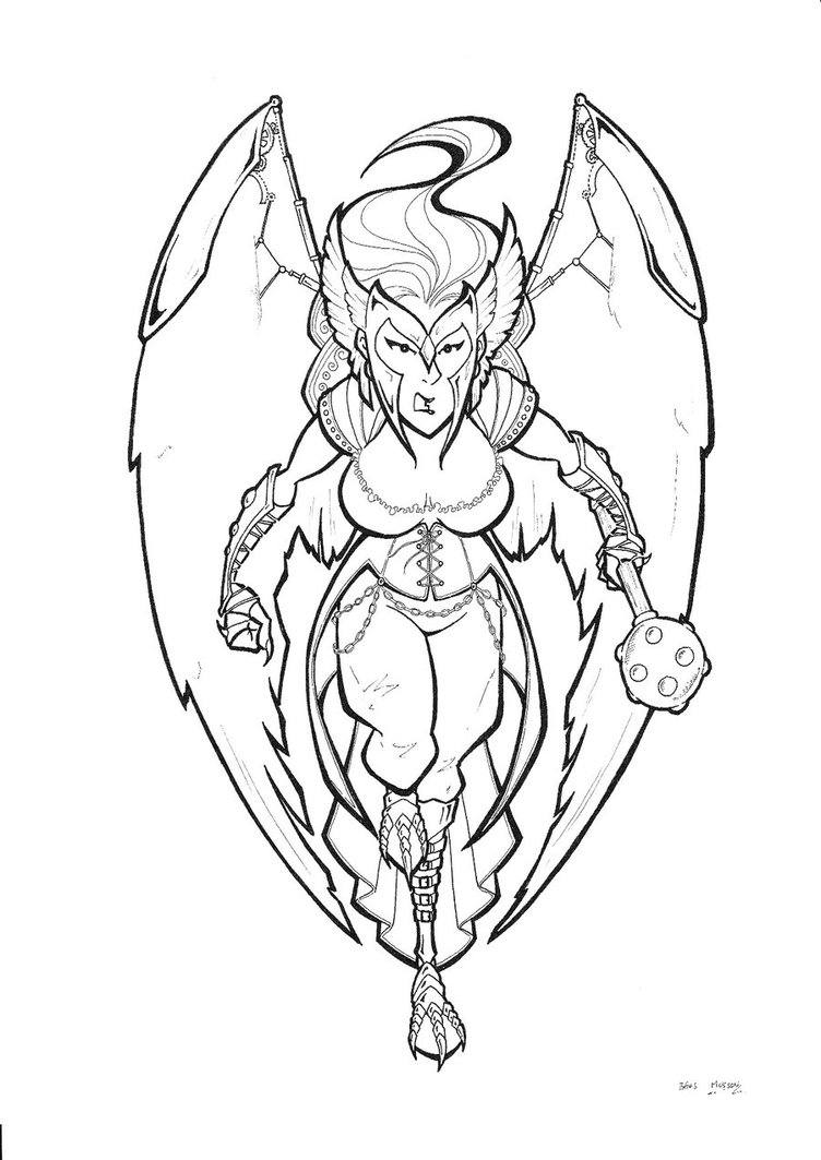 coloring pages of hawkgirl - photo#26