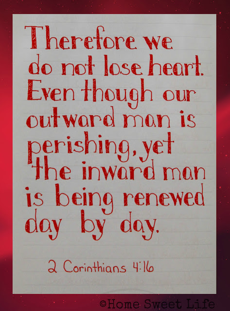 Scripture Writing, 2 Corinthians 4:16