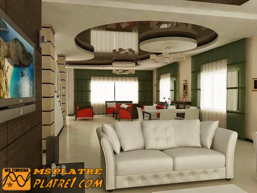 Deco salon moderne platre for Platre decoration salon