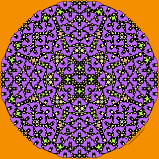 Batty mandala with a blank version to color
