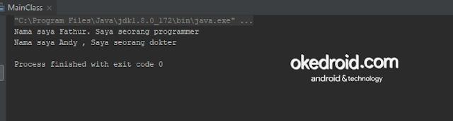 Output Hasil Contoh Code Perbandingan Perbedaan Program Fungsi Class String dan StringBuilder Java