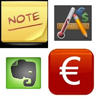google apps - information - colornote, currency converter, converter, evernote