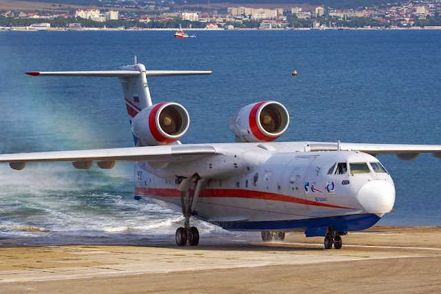 Beriev 50 seater amphibious aircraft