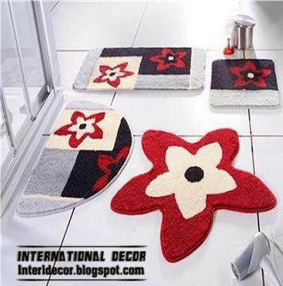 modern bathroom rug sets