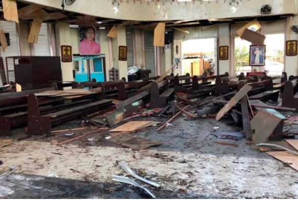 17 people killed, dozens wounded as terrorists bomb a catholic church in Philippines