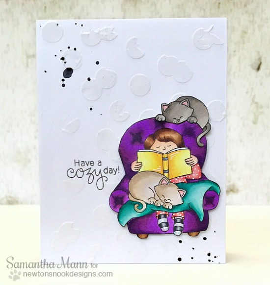 Cozy Day with Cats Card by Samantha Mann | A Cozy Day In Stamp set by Newton's Nook Designs #newtonsnook