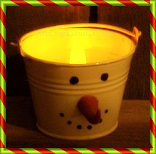 Snowman Bucket Light Seasonal Craft