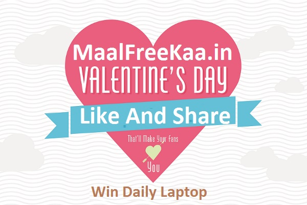 Valentine Day Contest Win Daily Free Laptop And More - Freebie