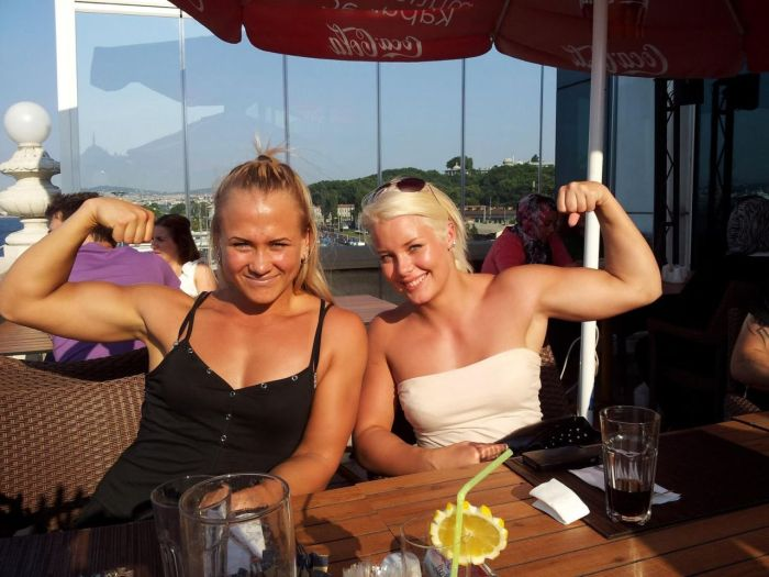 Sarah Backman Female Armwrestling Champion From Sweden