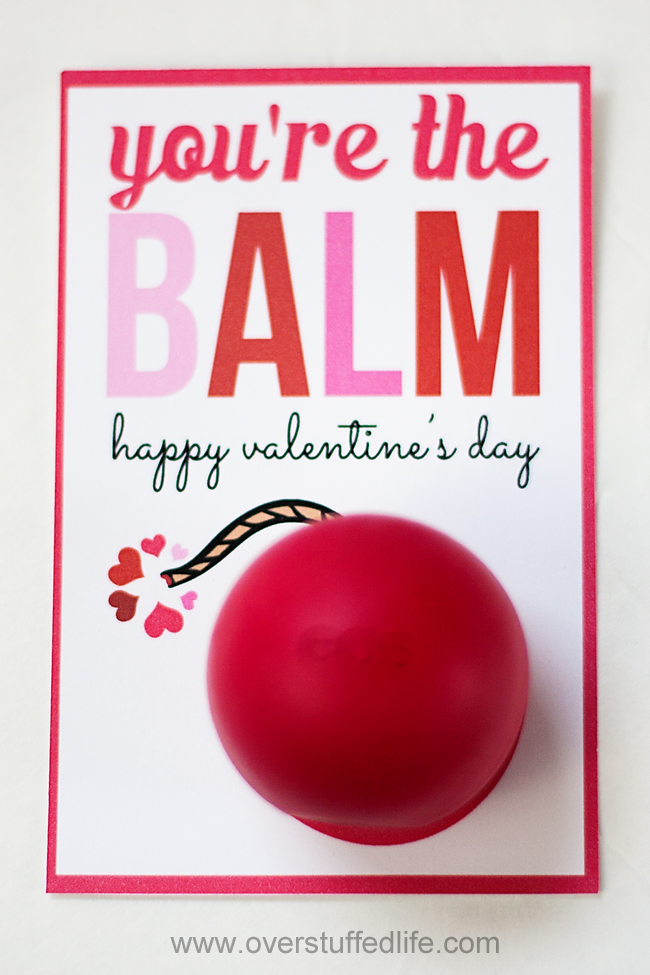 use eos lip balm and this adorable printable to make a fun youre