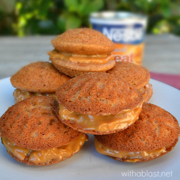 Sticky, moist delicious Caramel Apple Whoopie Pies ~ I can never have enough of these delightful sweet treats !