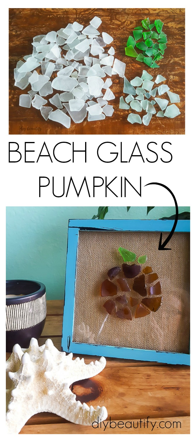 create a pumpkin from collected beach glass
