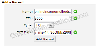 Configure TxT Records for Outlook at DNS Level at HostGator