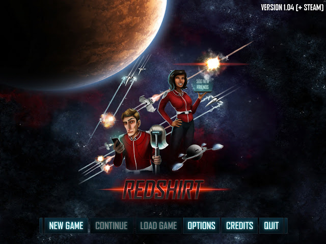 Redshirt title screen