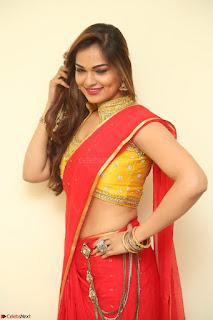 Actress Ashwini in Golden choli Red saree Spicy Pics ~  073.JPG