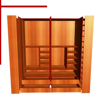 Dise o de muebles madera creaci n de armario con for Planos de muebles de cocina pdf
