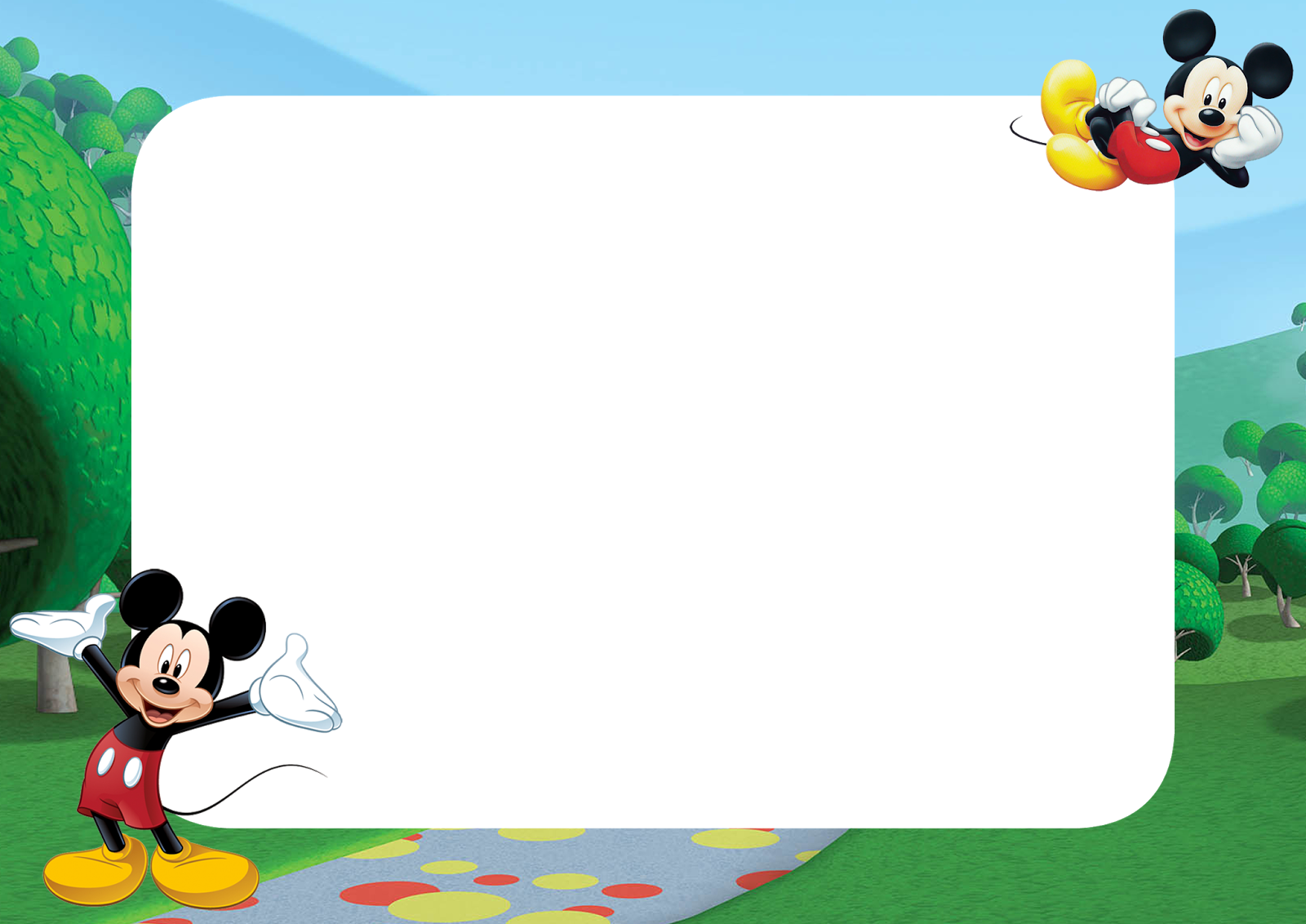 Download Free Printable Mickey Mouse PNG Frame Download Now