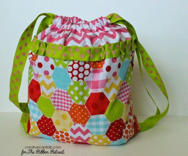 Capital B Adorable Simple Drawstring Backpacks