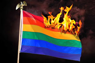 burning the rainbow flag