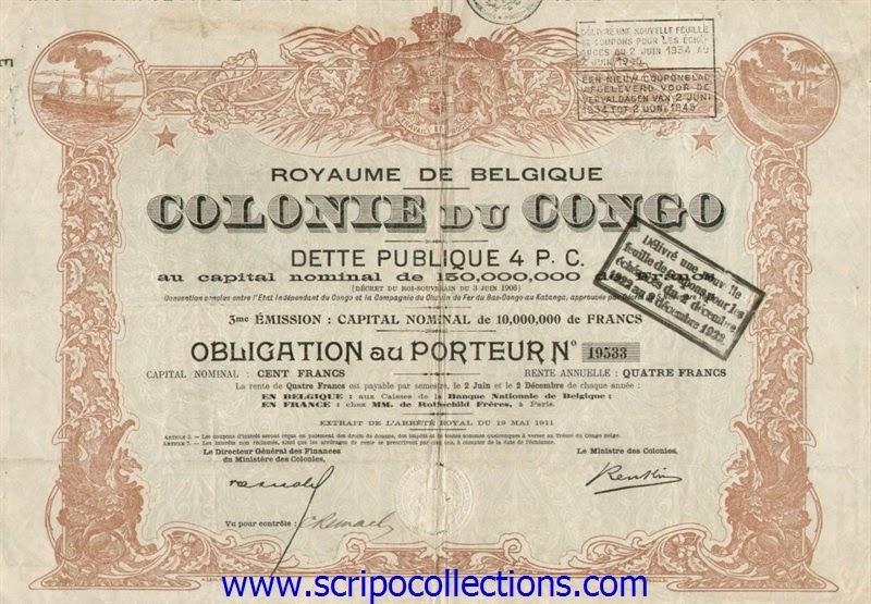 bond from Compagnie du Chemin de Fer du Bas-Congo au Katanga