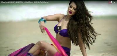 Miss nepal shristi shrestha in hindi song
