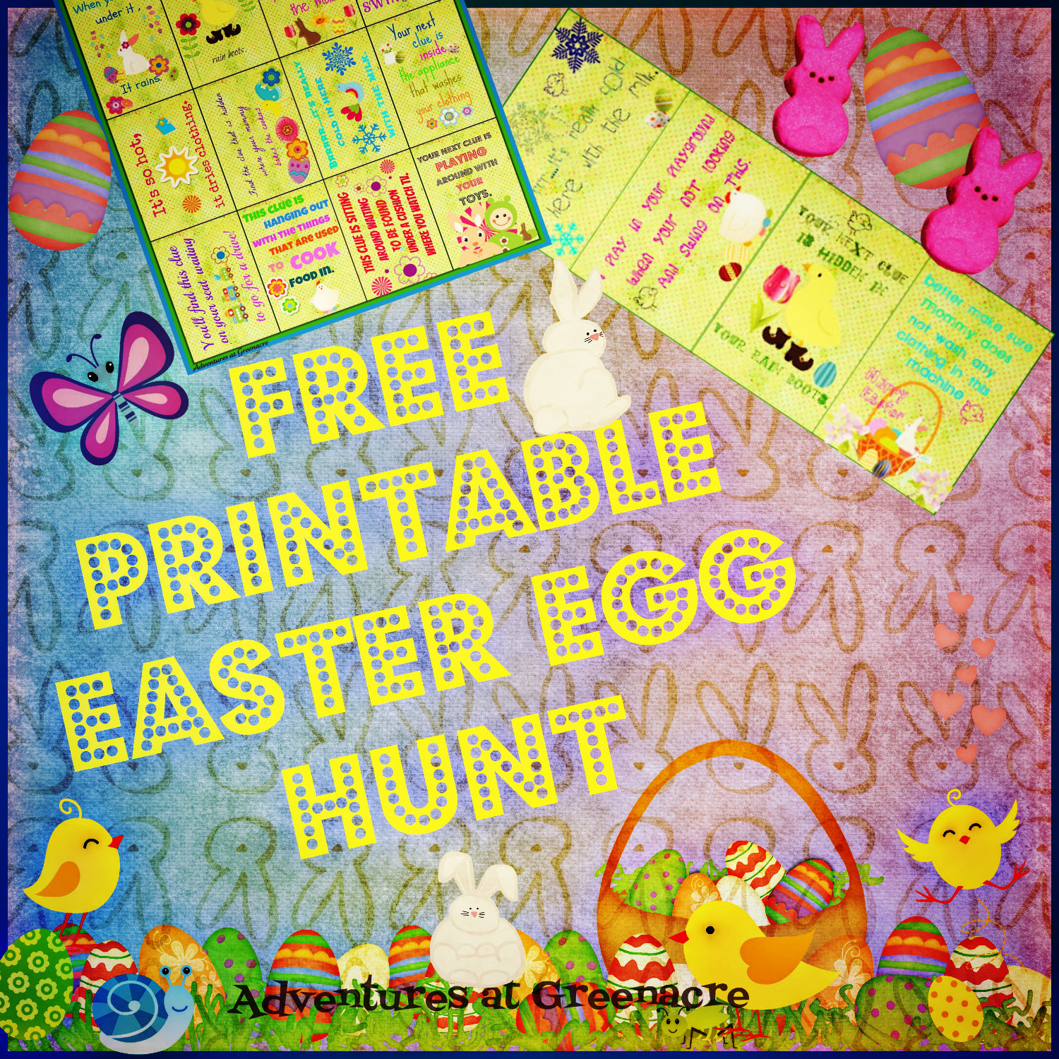 Adventures at Greenacre: Free Easter egg hunt clues printable