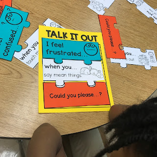 school counseling lesson plan for teaching talk-out or i-messages in elementary school
