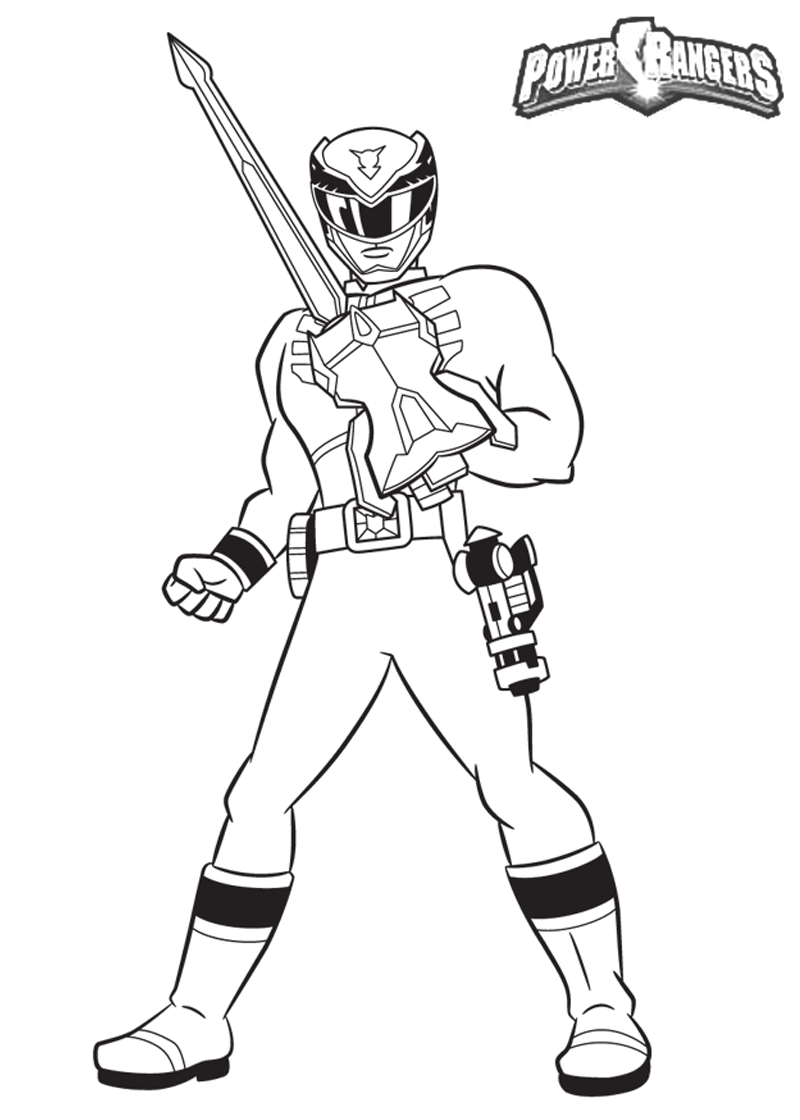 power ranger coloring pages printable - photo#21