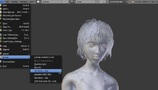 blender 3d animation tool