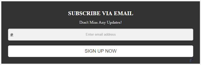 Blogger Subscription Box Widget For Post