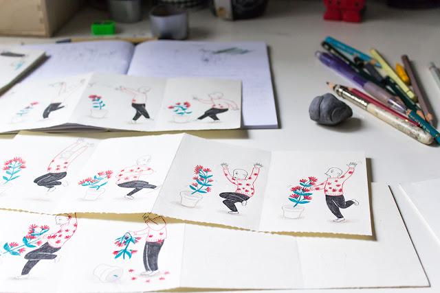 Mar Villar, ilustración de plantas, baile, personajes