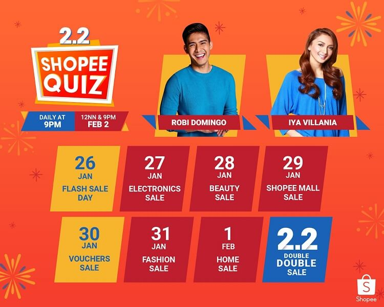 Shopee 2.2 Double Double Sale Calendar