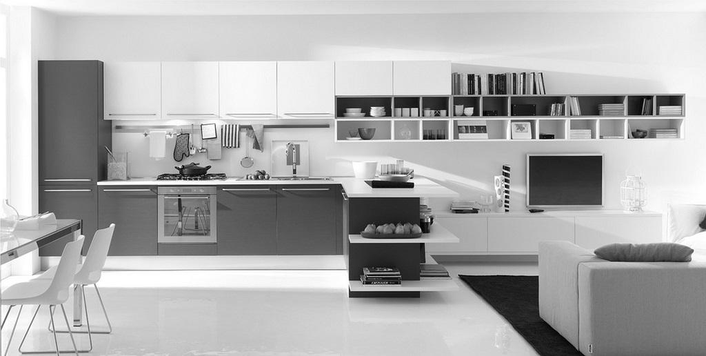 28 Fotos De Cozinhas Em Branco E Cinza Decorao