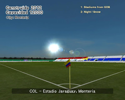 PES 6 Stadiums Estadio Jaraguay by World Stadiums PES6