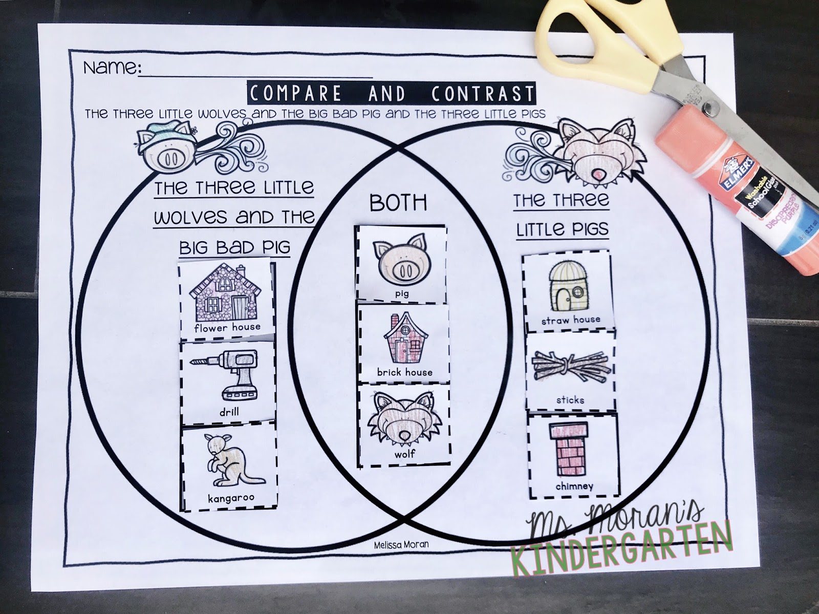 Ms Moran S Kindergarten Free Comparing And Contrasting