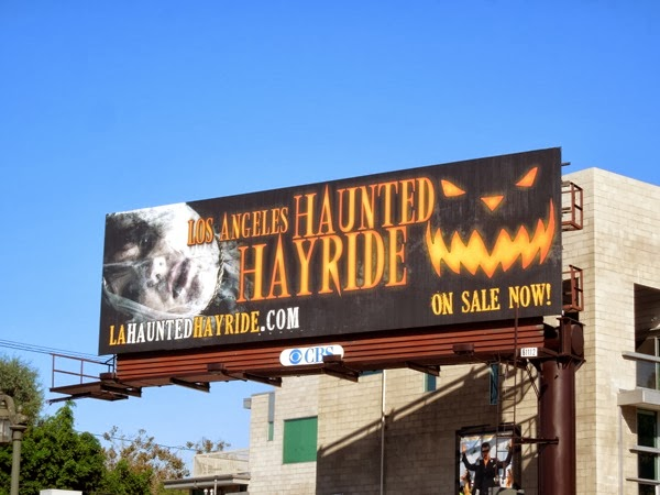 Los Angeles Haunted Hayride Halloween 2013 billboard
