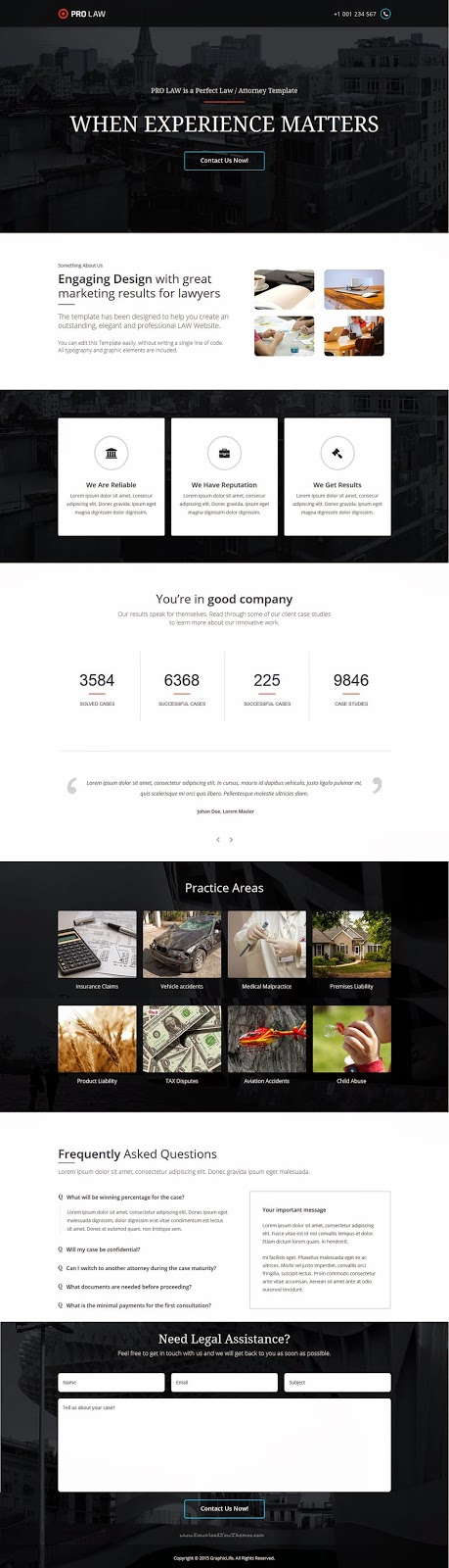 website template for law pofessional