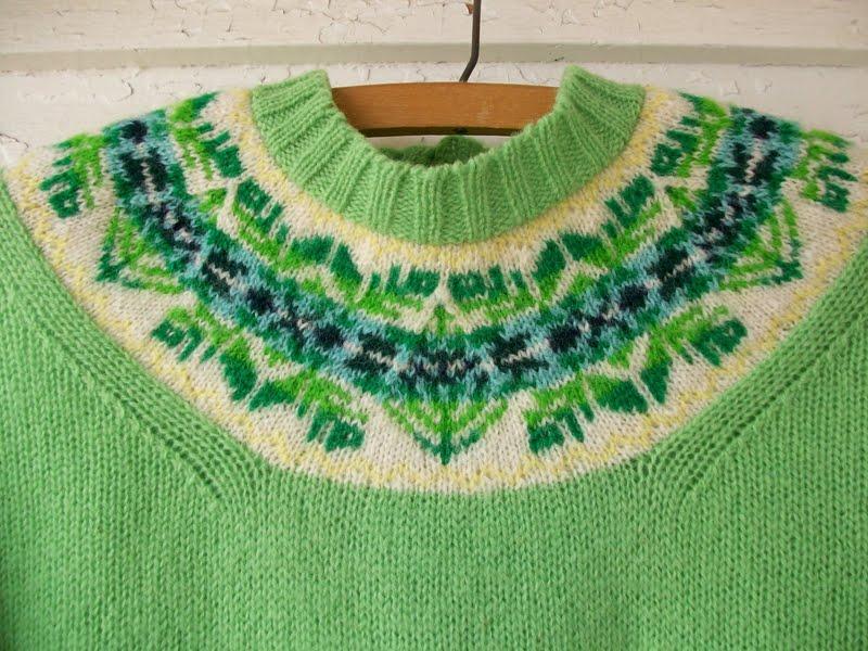 97e9bc496d Vintage Shetland Fair Isle Cardigan   1960s Wool Sweater Yoke Pattern  Raspberry Pink Cream Scotland Scottish. Fair Isle