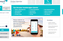 Trk Telekom Telefon ve nternet Online Bavuru - Trk Telekom Mobil ,Avea Online Paket Deiiklii
