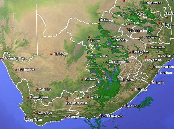 HD Decor Images » S A  Weather and Disaster Information Service  South Africa  SA     SA Weather Radar Maps  13 December 2011