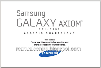 Samsung Galaxy Axiom Manual Cover