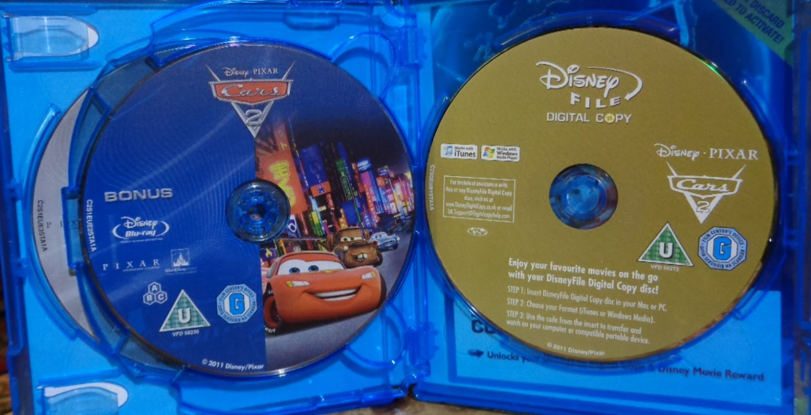 Movies On Dvd And Blu Ray Cars 2 2011