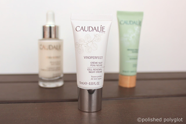 brightening anti dark-spot skincare routine: Caudalie Renewal night cream