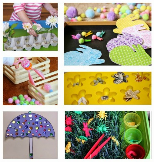 fine motor spring ideas for kids