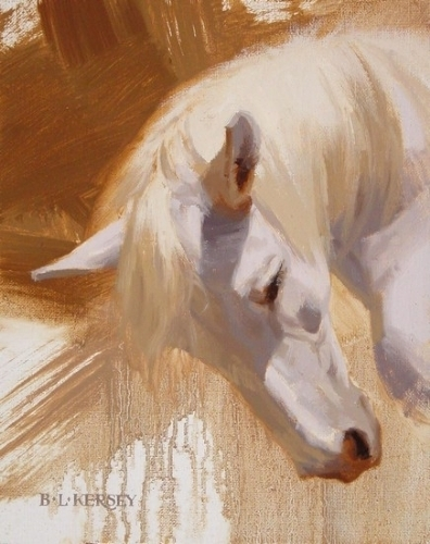 "Horse | landscape | Figurative Paintings By ""Laurie Kersey"" 1961"