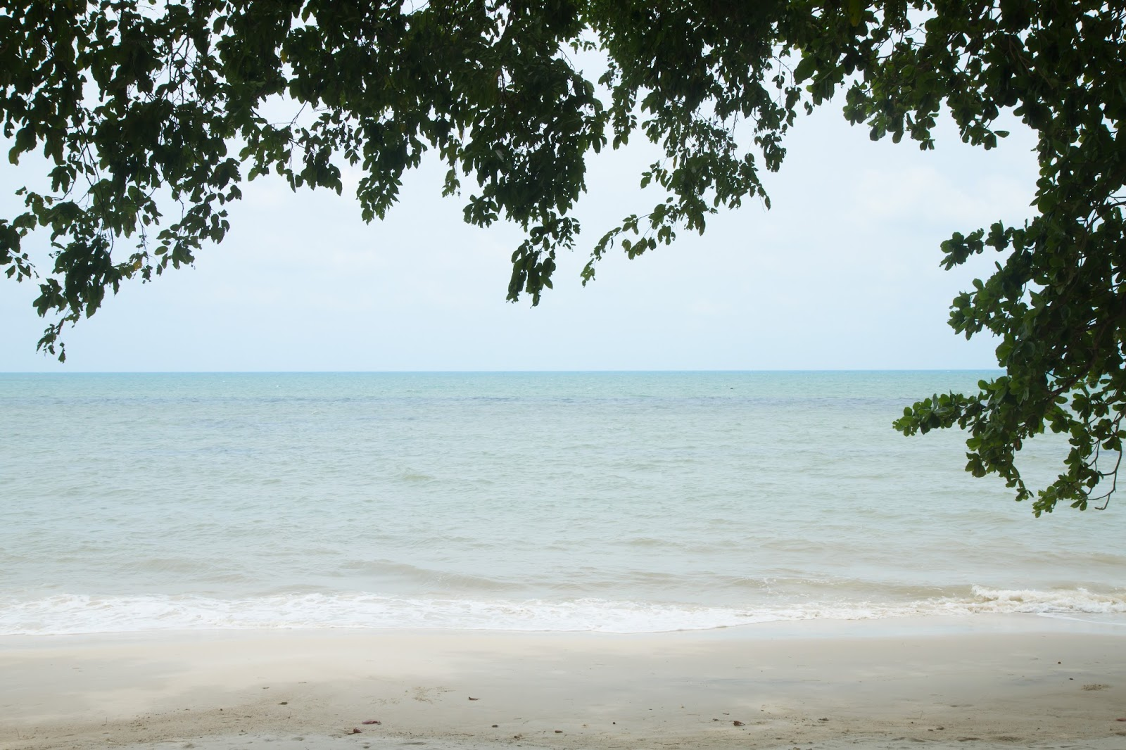 a white sandy beach in belitung
