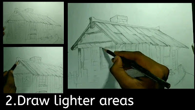 How to draw lighter shades, 2b pencil shading