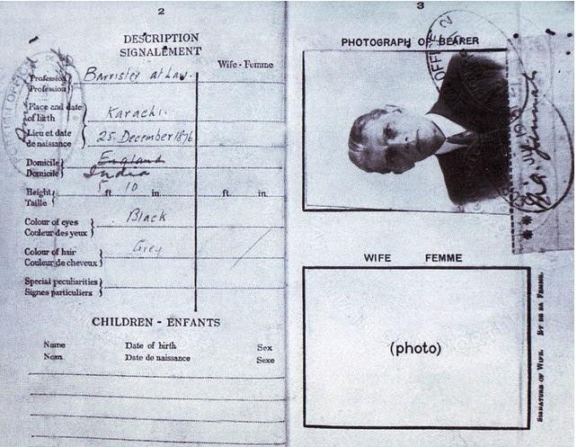 Quaid-e-Azam's Passport Cover